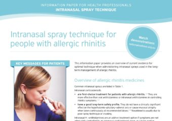 Intranasal Spray Technique HP