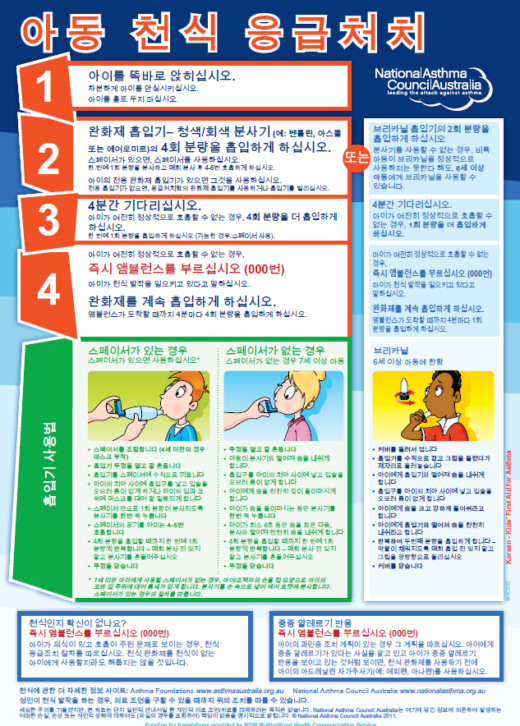 Kids First Aid Korean