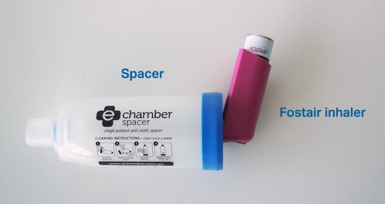 Fostair Inhaler With Spacer